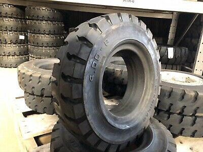 4.00-8 Heungah Solid Pneumatic Tire Rim Size 3 Forklift Tires NashFuel