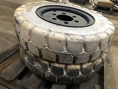 7.00-15 Heungah Solid Non Marking Pneumatic Tire Rim Size 5.50 Forklift NashFuel
