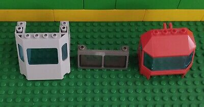 LEGO Yellow 4x6x4 Train Front Cab Windscreen with Clear Glass