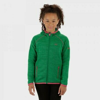 Regatta Dissolver Girls Hooded Zipped Fleece  Size 11-12 Years