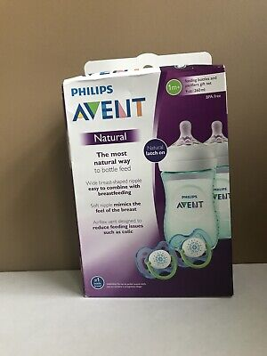 Philips Avent Natural Baby Bottle Teal Gift Set SCD693/24