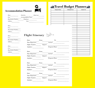 Vacation Planner Printable with 6 Sheets Including a Budget Planner