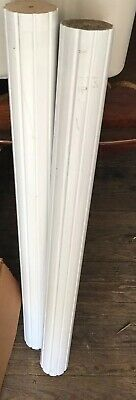 "2 Salvage Wood Shabby Fluted Mantel Newel Post Columns Chic 34"" Farmhouse Chic"