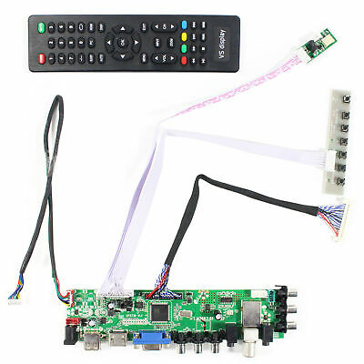 "Fit To 19"" LQ190E1LW61 1280x1024 LCD Screen HDMI VGA AV USB DTV LCD Driver Board"