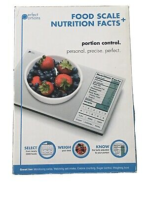 Perfect Portions Digital Food Scale + Nutrition Facts