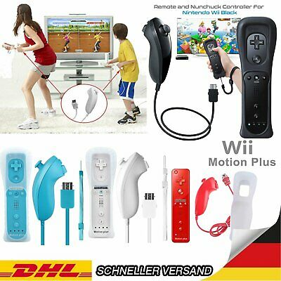 MOTION PLUS CONTROLLER REMOTE + NUNCHUK + HÜLLE NINTENDO WII U KONSOLE Gift Toy