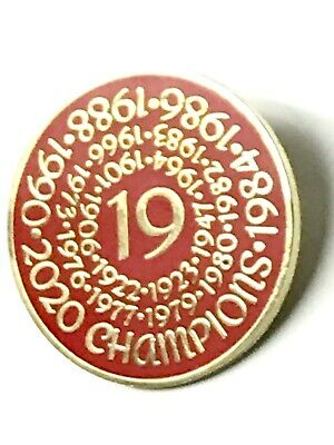Liverpool Champions 2020 Round Pin Badge - Gold