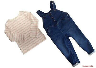 New Tesco Store Dungaree Set Jeans Trousers Top