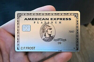 American Express Centurion Business Card Platinum Metal AMEX Titanium NOT ACTIVE