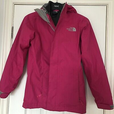 Girls Pink Northface Hyvent Double Layer Coat Age 10-12