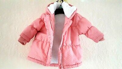 Baby Girls Infants NEXT Winter Hooded Padded Parka coat 3-6 months