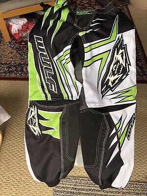 New Adult Wulfsport Jeans Motocross Quad Size 32 Inch Green
