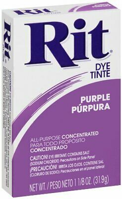 Rit Dye Purple Dry Powder All Purpose Fabric Dye 1.12 ounce Concentrated