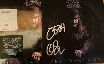 OZZY OSBOURNE SIGNED / AUTOGRAPHED Booklet CD ORDINARY MAN DELUXE Black Sabbath