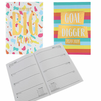 GOAL DIGGER//BIG PLAN 2020-2021 Academic Diary Casebound Week to View A5 Diary