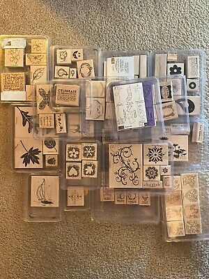 Stampin' Up! WOOD Mounted Stamp Sets, Retired, YOU CHOOSE. Fast Shipping!