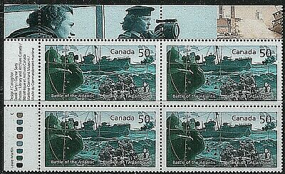 #2107 * UL Insc Blk * MNH * Battle of the Atlantic *