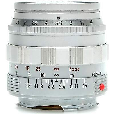 Leica 50mm f1.4 Summilux-M Lens (Silver) with UV Filter & Hood
