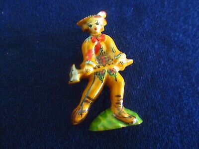 Vintage Rare Bakelite Woodsman with Axe Hand Painted Pin Brooch