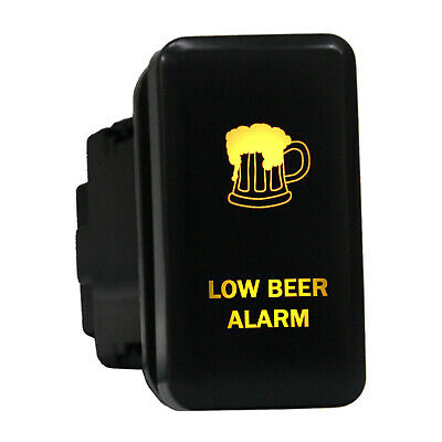 12V Push switch 8B87O LOW BEER ALARM LED amber ON-OFF For Toyota 4Runner HiAce