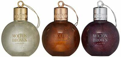 Molton Brown Bath and Shower Gel Festive Bauble Gift Set Brand New 3 x 75ml