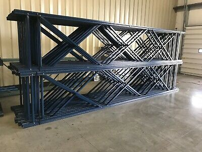 """Used Teardrop Uprights for Pallet Racking, 42"""" x 18'H."""