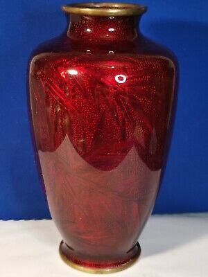 Japanese Red Blood Ginbari Vase Bamboo Decoration