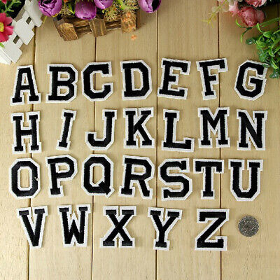 26pcs Letter A-Z Embroidered Iron On Patch Sew Motif Applique Accessori DIY X5I6