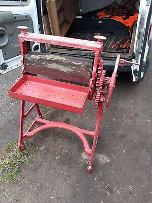 Vintage Cast Iron Mangle Mangel Garden Ornament Laundry Plant Stand Antique