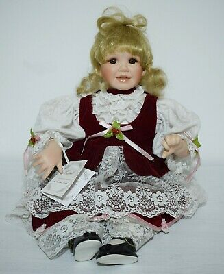 "Boxed The Ashton-Drake Galleries Porcelain Doll ""Carol"" 