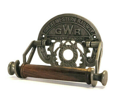 Victorian Style Toilet Roll Holder Novelty Cast Iron GWR Great Western Railway