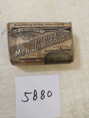 Vintage Superfatted Medicinal Soap With Original Wrapping Advertising