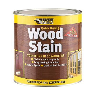 Everbuild Quick Dry Long Lasting Wood Stain Clear Coat 2.5ltr
