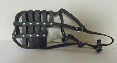 Dog Trainers Brand Leather Muzzle. Large.