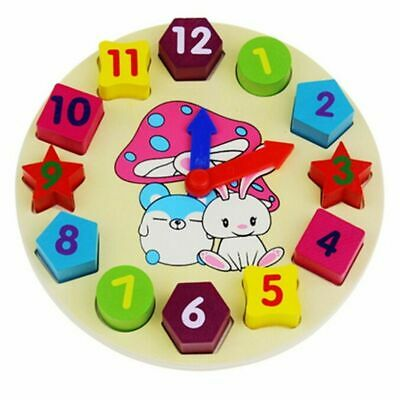 Educational Learning Sorting Clock Puzzle Play Toy Toddlers Baby Kids Age 2 3 4+