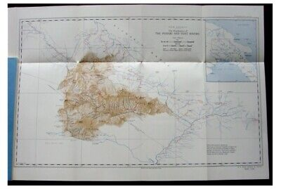 1936, Papual New Guinea Central Highlands, M Leahy RGS map
