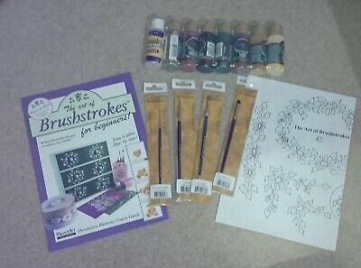 Decoart The Art Of Brushstrokes Kit Beginners Crafters Acrylic Americana Lessons