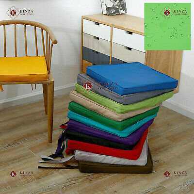 Waterproof Chair Seat Pads Outdoor Tie On Office Garden Patio Chair Cushions Pad