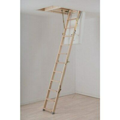 Werner Click Fix 56 Timber Loft Ladder With Hatch - NEW Can Pallet / Courier