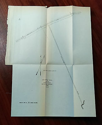 1881 Sketch Map of Michaud Oregon Branch, Fort Hall Indian Reservation, Idaho