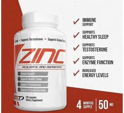 Zinc 50mg 4 Month Supply Expiry 4/22 120 Capsules Free Shipping