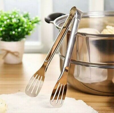 Tongs Stainless Steel Salad BBQ pasta Kitchen Cooking Food Serving 28.5cm