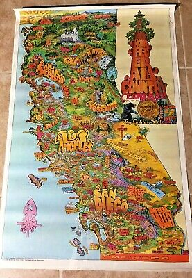 San Diego Home Federal Saving Bank poster 1973 VINTAGE Super colorful