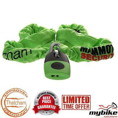 Thatcham Approved Motorcycle Security Mammoth Lock & Chain Length 1.8m - LOCM003