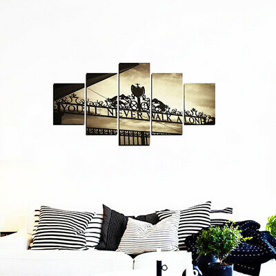 5 Panels You'll Never Walk Alone Canvas Picture Split Wall Arts Painting Decor !