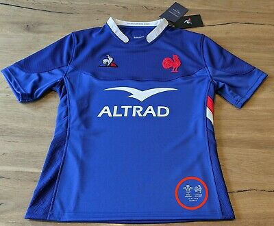 Maillot Rugby #10 Ntamack match Equipe France - Pays de Galles 6 Nations 2020 XL