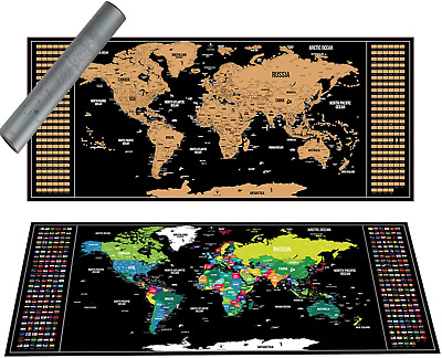 Scratch off World Map Deluxe International Travel Map Scratch off Map of the Map
