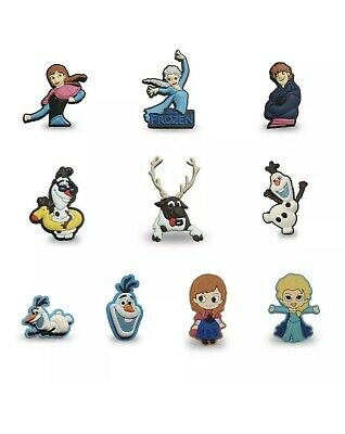 New FROZEN 2 Shoe Charms For Crocs Set Of TEN Elsa Anna Olaf Kristoff & Sven