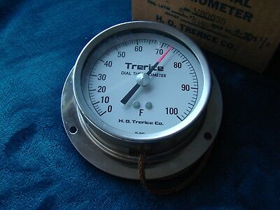 VINTAGE NEW TRERICE DIAL THERMOMETER No. V80035