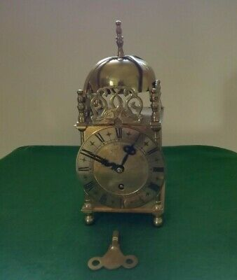 Lantern Clock made in England by S Smiths 1950s, 8 day, 7 jewels
